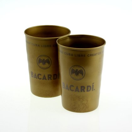Bacardi Metal Goldbecher 2 er Set