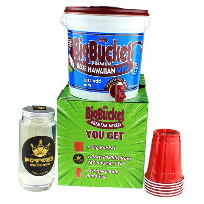 Big Bucket Party Pack Blue Hawaiian
